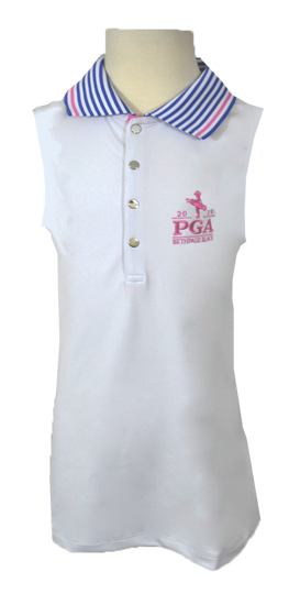 Picture of RALPH LAUREN K191DG02 SLEEVELESS TECH PIQUE POLO
